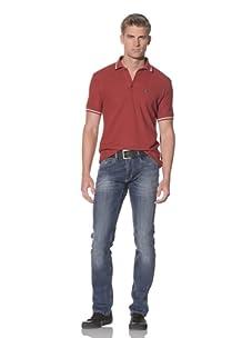 Just Cavalli Men's Gun Metal Regular Fit Jeans (Blue)
