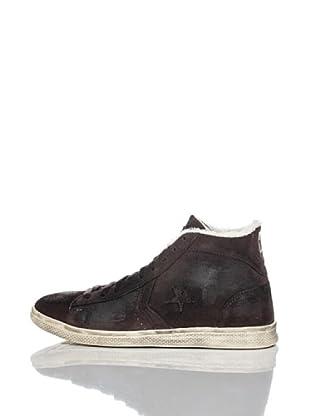 Converse Zapatillas Pro Leather (Chocolate / Rojo)