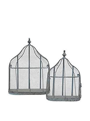 Three Hands Set of 2 Decorative Bird Cages