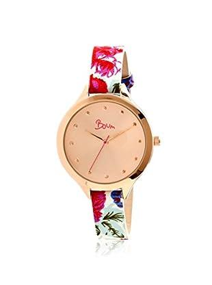 Boum Women's BM1902 Rose-Tone Bijou Leather Watch