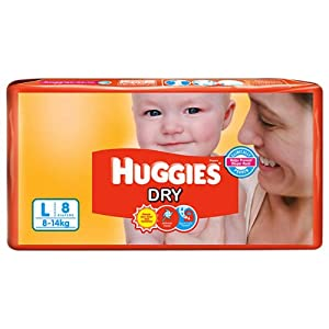 Huggies Large Diapers for Children-White