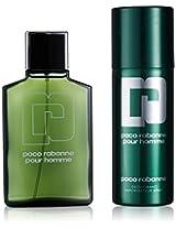 Paco Rabanne 2 Piece Eau de Toilette Spray, Shower Gel for Men