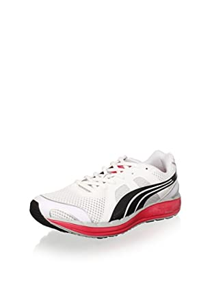 Puma Women's Faas 550 NM Running Shoe (White/Black/Teaberry Red)