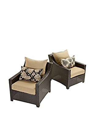 RST Brands Deco Set of 2 Club Chairs, Beige