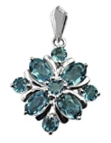 Carillon India Sterling-Silver Pendant Women Blue