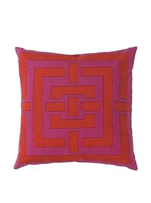 Surya Geometric Throw Pillow, Grenadine