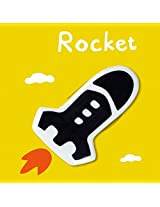 Creative Household Decorative Ceramic Fridge Magnet(Style:rocket)