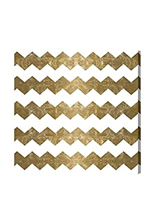 Oliver Gal 'Chevron Crazy Gold' Canvas Art
