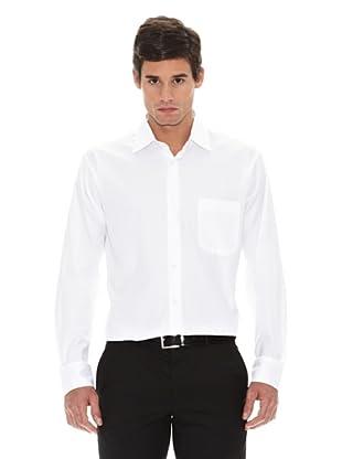 Turrau Camisa Vestir Microdibujo (Blanco)