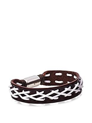 STEELTIME Laced Brown Leather Bracelet