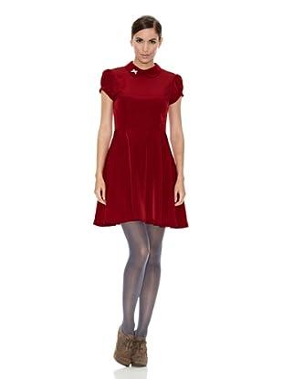 Divina Providencia Vestido Liso (Rojo)