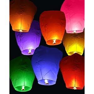 Chinese Sky Lanterns-Wishing Lights- Pack of 5