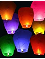 Eco Lights Wishing Lights Paper Sky Lanterns ( 90 cms X 45 cms, Mixed Colours)-Pack of 20