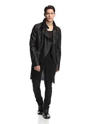 Ann Demeulemeester Men's Leather Rider Jacket (Black)