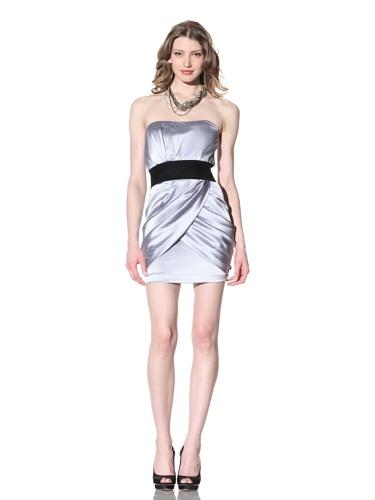 Foley + Corinna Women's Ruched Strapless Dress (Ice)