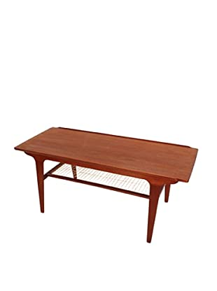 Danish Teak & Rope Coffee Table, Brown