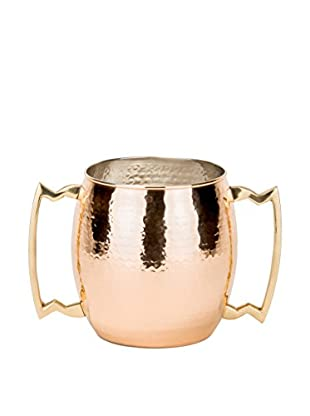 Old Dutch International Hammered 96-Oz. Solid Copper 2-Handled Jumbo Mug, Copper