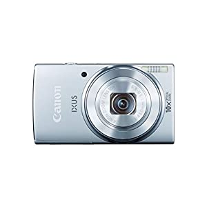 Canon IXUS 155 20 MP Point and Shoot Camera (Silver) with 10x Optical Zoom, 8GB Card and Camera Case