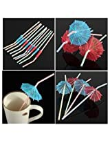 10pcs Cocktail Umbrella Drinking Straw Assorted Party Theme Decoration.