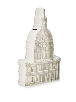 The HomePort Collections Ceramic Capital Rotunda Bank (White)