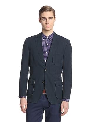 Kroon Men's Harrison Two Button Striped Sportcoat (Navy)