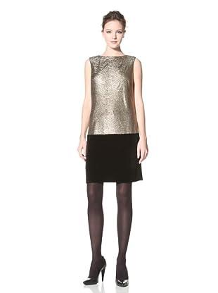 Donna Morgan Women's Emma Dropped Waist Dress (Gold/Black)