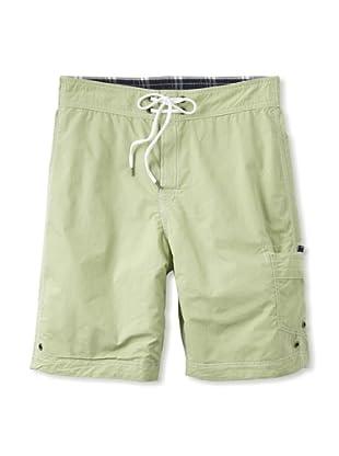 Tailor Vintage Men's Reversible Board Shorts (Pistachio/Plaid)