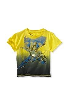 Kid's Republic Boy's High Point Batman T-Shirt (Yellow/Black Dip Dye)