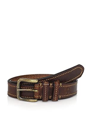 Maker & Company Men's Contrast Stitched Belt (Brown)