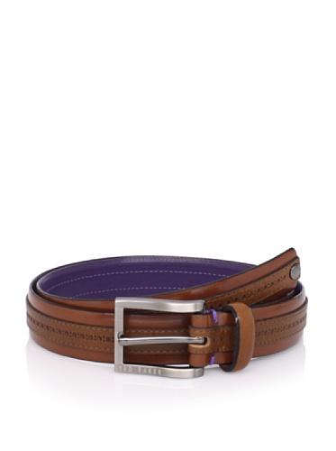 Ted Baker Men's Kitout Stripe Belt (Tan)