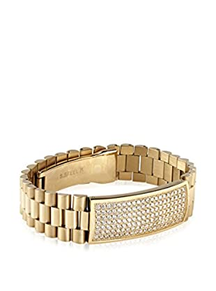 Stephen Oliver Men's 18K Gold-Plated CZ ID Bracelet