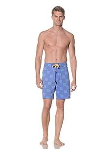 Rhythm Men's Flag On Swim Short (Blue)