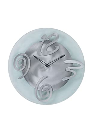 Jon Gilmore Hour Glass Clock (Silver)