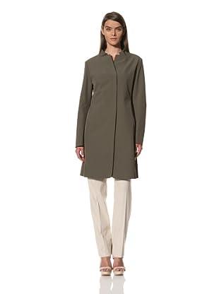 JIL SANDER Women's Techno Silk Blend Stretch Coat