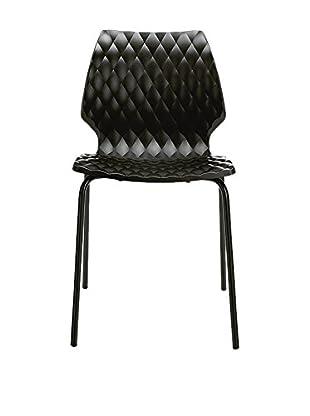 Metalmobil Stuhl 4er Set Uni-550 schwarz/schwarz