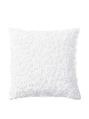 Shades of India All Over Daffodil Pillow Cover, White