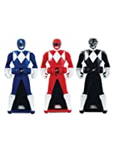 Power Rangers Super Megaforce - Mighty Morphin Legendary Ranger Key Pack A, Red/Blue/Black