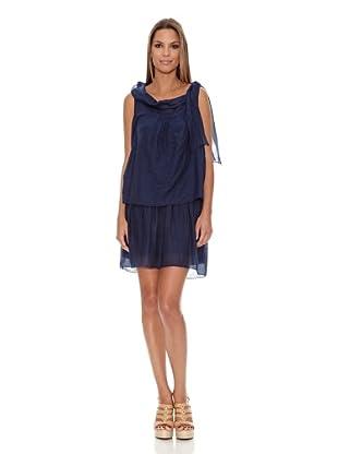Assuili Vestido Chale (Azul Marino)