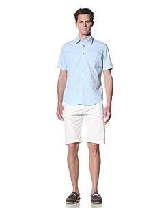 JAMES CAMPBELL Men's Warwick Dobby Button-Front Shirt (Sky)