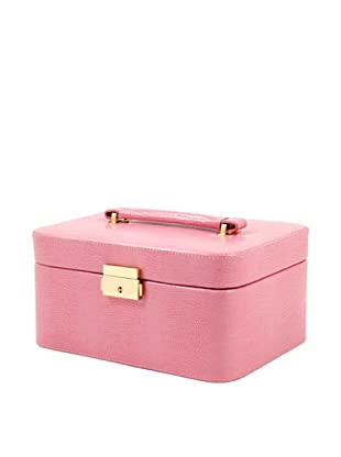 Bey-Berk 3-Watch Stamped Jewelry Box, Pink