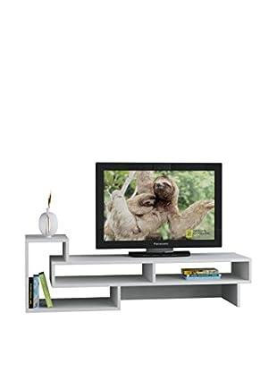 Black&White Mesa Para Televisor Tetra Blanco