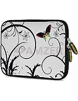Amzer 10.5 Inch Neoprene Sleeve Snow Butterfly for Apple iPad Air, Apple iPad 4, Apple iPad 2