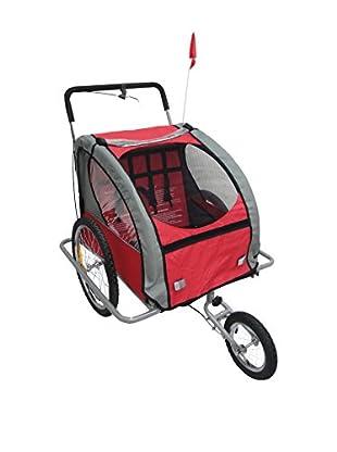 MOMA BIKES Trasportino Bicicletta Kids & Pets Rosso