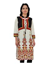 Adesa Women Cotton Kurti(Red) (X-Large)