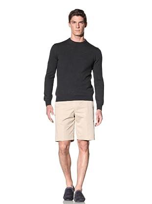 Calvin Klein Collection Men's Baren Crew Neck Wool Sweater (Charcoal Grey)