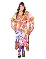 7 Colors Lifestyle Womens Georgette Kaftan (Abi7018Kfv2Xl _Multi-Coloured _X-Large)