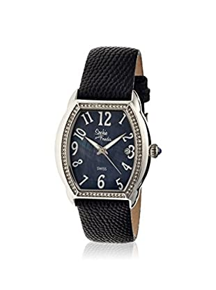 Sophie and Freda Women's SAFSF2202 Aspen Black Leather Watch