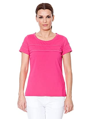 Cortefiel Camiseta Tachas (Fucsia)