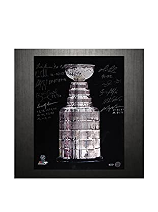 Steiner Sports Memorabilia Stanley Cup Trophy Photo Signed By Keenan, Chelios, Coffey, Hull, Bowman, Lemieux, Graves, Leetch, Richter & Messier