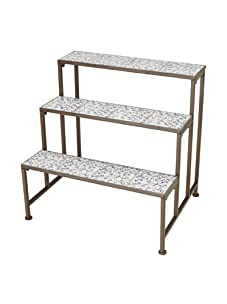 Esschert Design Aged Ceramic 3 Shelf Etagere